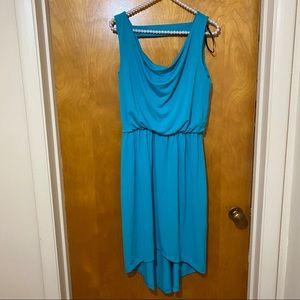 Kenar   High Low Teal Dress